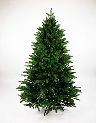 Seidenblumen Roß Nordmanntanne 210cm LS künstlicher Weihnachtsbaum Tannenbaum Kunststanne Kunststoff Spritzguss-Verfahren 100% PE mit Metallständer Nordmann