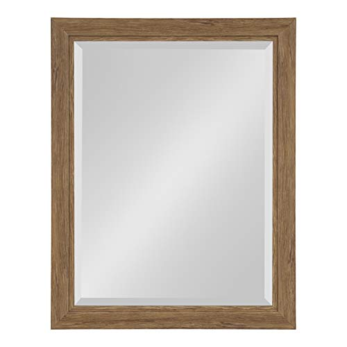 Kate and Laurel Dalat Framed Beveled Wall Mirror, 22x28, Midtone -