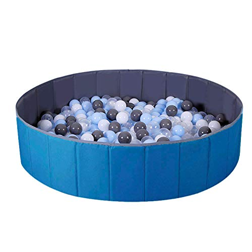 WWS Ball Pit for Kids / Baby Play Yard / Baby Playpen / Fence for Baby, Folding Portable, No Need...