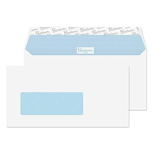 Premium Office 32266NL Briefumschläge Haftklebung Niederländische Fenster Ultra Weiß Wove DL 110 x 220 mm - 120g/m² | 500 Stück