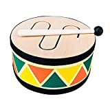 Batería pequeña 1 juego Instrumento de percusión Juguete musical de madera Batería divertida Fácil de tocar (Color: Colorido, Tamaño: Talla única)