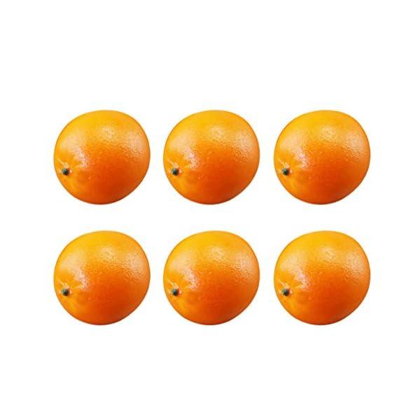 IMIKEYA 6pcs Artificial Orange Lifelike Orange Fake Fruit Home Kitchen Cabinet Decoration Photo Props