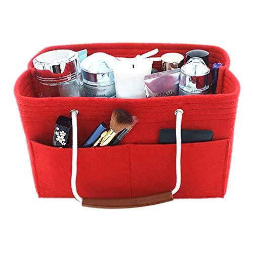 qingqingR Multi-Pocket Insert Bag Felt Fabric Purse Handbag Bag Liner Tote Organizer