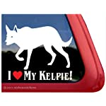 I LOVE MY KELPIE! ~ Australian Kelpie Dog Vinyl Window Auto Decal Sticker