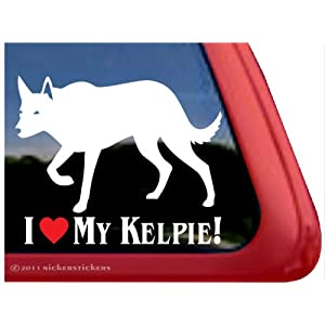 I LOVE MY KELPIE! ~ Australian Kelpie Dog Vinyl Window Auto Decal Sticker 21