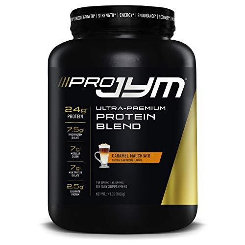 Pro JYM Protein Powder - Egg White, Milk, Whey Protein Isolates & Micellar Casein | JYM Supplement Science | Caramel Macchiato Flavor, 4 lb