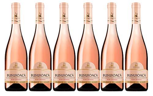 Cotnari Selectie de Vinuri | Busuioaca – Rumänischer Roséwein halbtrocken | Weinpaket 6 x 0,75 L D.O.C.-C.M.D.