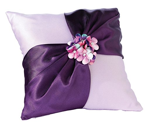 Lillian Rose Purple Flower Wedding Ring Pillow
