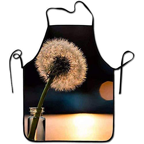 Myrdora Grembiule da cucina personalizzato, Dente di Leone Grembiule Fresco Grembiule da cucina per pasticceria/Libreria/Bar/Hotel