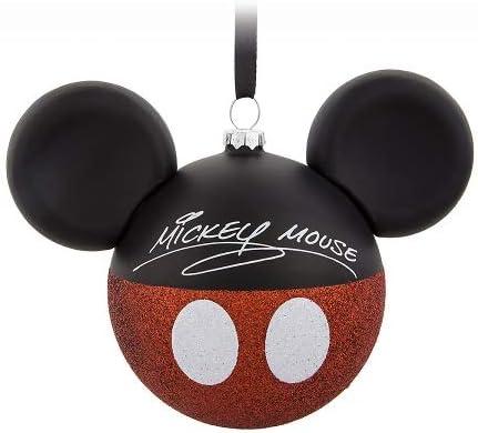 ORNAMENT Disney 限定特価 Christmas Mickey Mouse 安全 Ears Am I Micke Signature