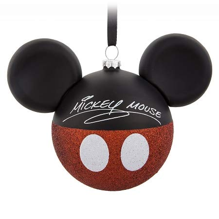 ORNAMENT Disney Christmas Mickey Mouse Ears Signature I Am Mickey Mouse