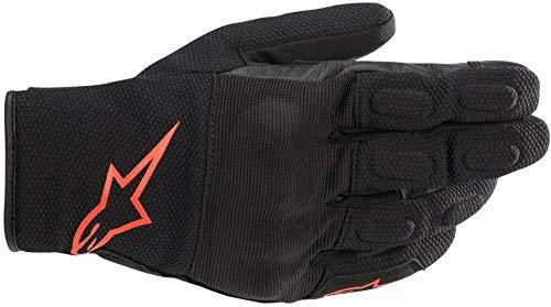 Guantes de Moto Alpinestars S MAX Drystar Guantes Negro Rojo Fluo, Negro/Rojo/Fluo, S