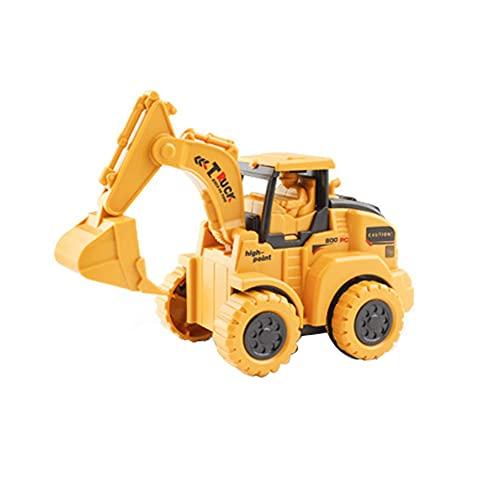 Yuxunqin Excavadora Juguete Juguete Push-Type Excavator Juguete Mini Excavadora de Construcción, Push-TypeToy Caroutdoor Play Tractor Toy Educational Great Regalos para 3 4 5 6 7 8 9 10 AÑOS NIÑOS