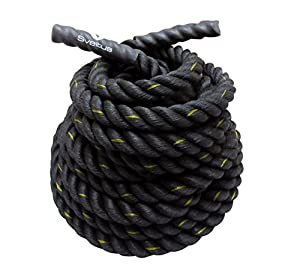 La cuerda de combate Sveltus es un equipo de fitness perfecto para ejercitar todos los músculos del cuerpo. Longitud de la cuerda 10 m – diámetro 2, 6 cm. Peso: 3, 6 kg.