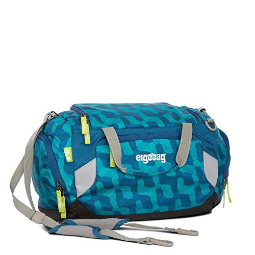 ERGOBAG Sporttasche WunderBär, Blau (Blume-Rad blau), 40 cm 20 L