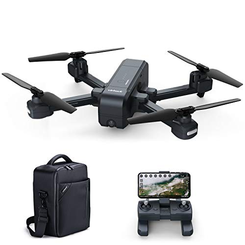 Virhuck Z5 GPS Drone with 1080p FHD Camera 5G WiFi FPV Live Video FOV 120° Wide-Angle RC Foldable Quadcopter for Adults Beginners with Follow Me + Waterproof Bag + Bonus Battery