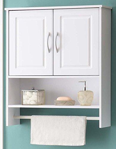 4D Concepts Bathroom 2 Door Wall Cabinet, White