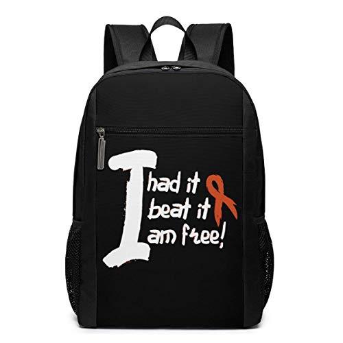 ZYWL Leukämie Krebsbewusstsein Laptop Rucksack 17-Zoll-Reiserucksack Bookbag Bussiness Bag