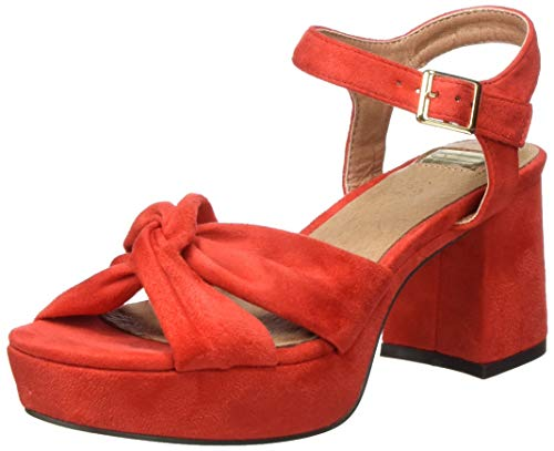 EFERRI Motillejo, Zapato de tacón para Mujer, Rojo, 38 EU