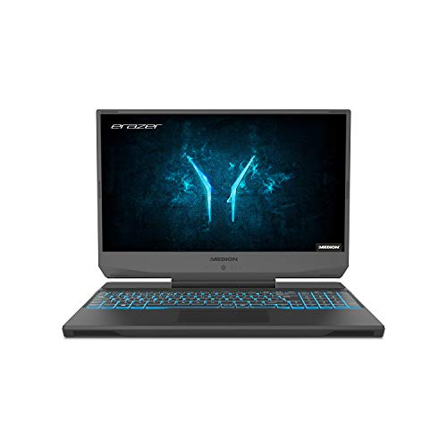 MEDION ERAZER Deputy P10 39,6 cm (15,6 Zoll) Full HD Gaming Notebook (Intel Core i7-10750H, 16GB DDR4 RAM, 512GB PCIe SSD, NVIDIA GeForce RTX 2060 6GB GDDR6, RGB Backlit Keyboard, Win 10 Home)