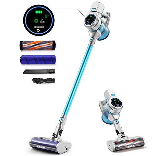 HOMEVER Aspirapolvere Senza Fili,Scope Elettriche 5 in 1 con Motore Potente e Schermo LCD Smart,...