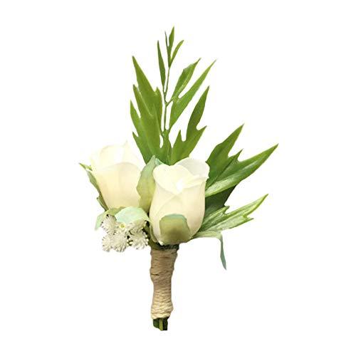Demarkt Boutonniere Hochzeit Seide Blume Ansteckblume Bräutigam Braut Knopflochblume für Anzug Hochzeit Bräutigam Size 12cm*6cm