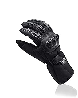 Unisex Motorcycle Gloves Summer Breathable Moto Riding Protective Gear Non-Slip Windproof Guantes Motorcycle Gloves (Black, M)