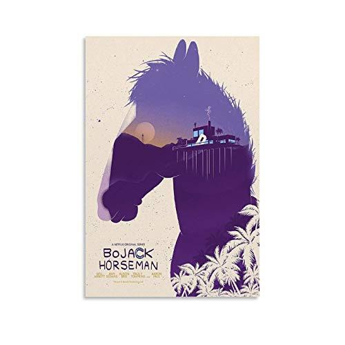 TOUKUI BoJack Horseman, poster decorativo da parete, per soggiorno, camera da letto, pittura, 30 x 45 cm