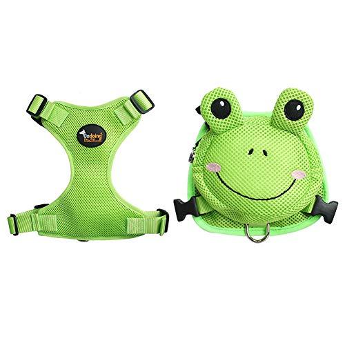 XDYFF Victoire Hund Geschirr Tasche Satteltasche Rucksack Carrier Haustiere Quick Release Pet Backpack, Portable Dog Backpack,Green,M