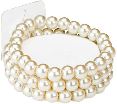 Fitz Design Flower Girl Ivory Bead Corsage Bracelet - Small Wrists - .75' Wide