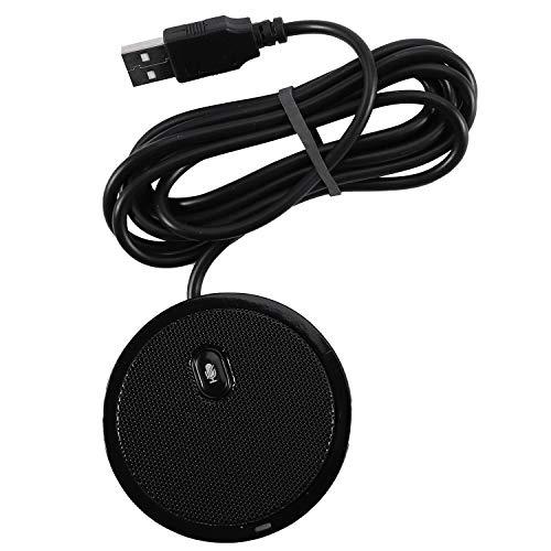 tellaLuna Enchufe USB Condensador Omnidireccional de Sonido Puro de Mesa Micrófono de Conferencia de Límites para Grabar Juegos