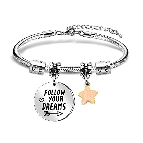BHXRODE Inspirational Bangle Bracelets Encouraging Gift Women Jewellery Star Charm Best Friend Birthday Christams Present