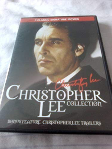 Christopher Lee Collection - Murder Story 1989 / Satanic Rites of Dracula 1973 Peter Cushing / Sherlock Holmes and the Deadly Necklace 1962 DVD