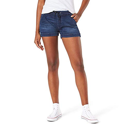 Signature by Levi Strauss & Co. Gold Label Women's Mid-Rise Pull On Shorts, Sea View, 18