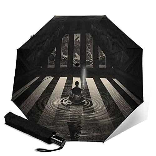 Paraguas plegable de Star Wars con cierre abierto, ligero, compacto, portátil, portátil,...