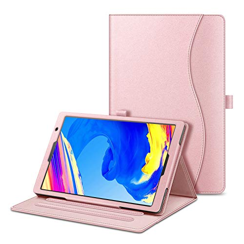 Fintie Funda para Vankyo S20 Tablet 10 Pulgadas - [Protección de Esquina] Carcasa de Ángulos Múltiples con Bolsillo Función de Soporte, Oro Rosa