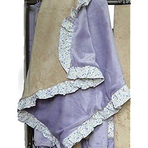 Go Mama Go Designs Lavender & Latte Minky Blanket