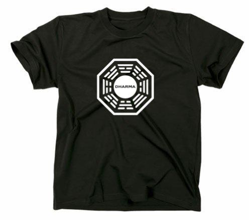 Lost Dharma Initiative Logo T-Shirt, schwarz, XL