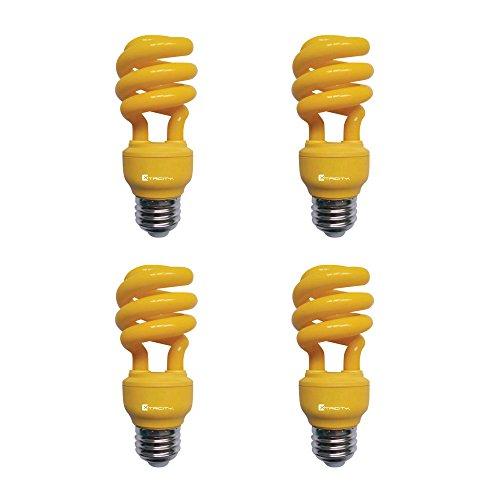 13W Yellow CFL Spiral Bug Light Bulb, 60W...