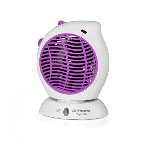 Orbegozo FH 5580 – Calefactor vertical oscilante, temperatura regulable, protección contra sobrecalentamiento, posición aire frío, 2 posiciones de calor, 2000 W