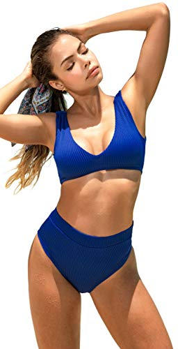 Mapale 6570 Two Piece Swimsuit, Royal Blue, Small