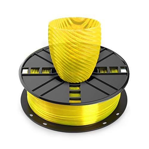 NOVAMAKER 3D Printer Filament - Yellow 1.75mm PETG Filament, PETG 1kg(2.2lbs), Dimensional Accuracy +/- 0.03mm