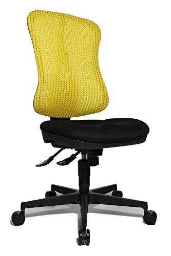 Topstar Head Point SY ergonomischer Bürostuhl, Schreibtischstuhl, Muldensitz (höhenverstellbar), Stoffbezug gelb / schwarz