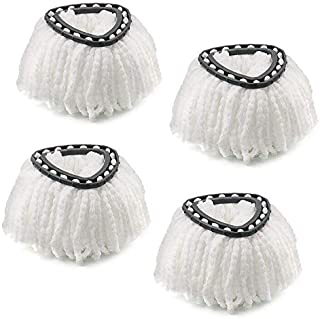 Microfiber Mop Head Refill for EasyWring Spin Mop Easy Cleaning Mop Head Replacement, Pack of 4