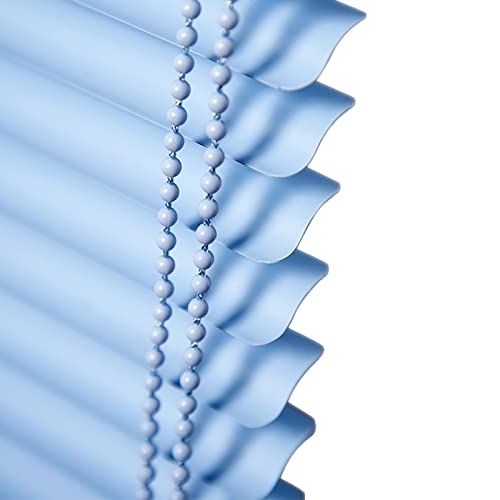 HYDT Persianas Persiana Veneciana de PVC para Patio Exterior, Persianas Enrollables Filtrantes de Luz con Cuentas de Arrastre, para la Protección de la Privacidad, Tamaño Personalizable, Azul