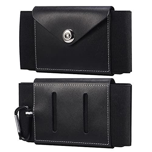 Teléfono clips de cinturón Funda de cinturón de teléfono celular de cuero genuino para iPhone SE2020,12 Mini, 11 Pro, XS, X, 8,7,6,6, funda de la bolsa de teléfono con clip para Galaxy S10E, S10