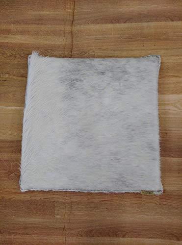 Zerimar Cojin de Piel de Vaca Premium | Reverso Piel | Medidas: 35x35 cm | Cojin de Piel | Cojines con Relleno Incluido | Cojines Decorativos