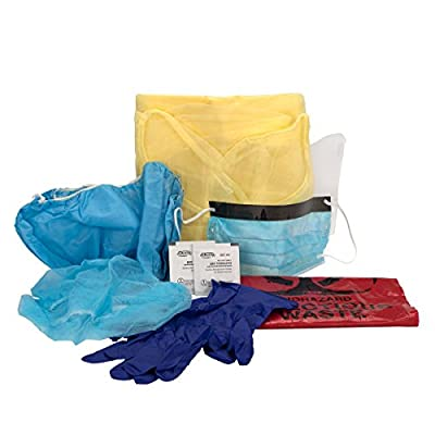 Pac-Kit by First Aid Only 00701 10 Piece Spill CleanUp Apparel Refill Kit, For Large Industrial BBP Cabinet by Pac-Kit