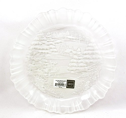 Mikasa Winter Dreams Decorative Glass Plate