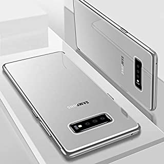 Tersely Samsung Galaxy S10e Plating Hybrid Case Cover, Crystal Clear Anti-Yellow Thin Slim Fit Stylish Silicone Bumper Edge Reinforced Shockproof Case Cover Anti-Scratch for Samsung S10e (5.8 inch) - Silver